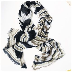 Echo striped scarf
